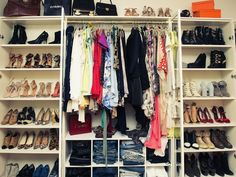 a peek inside: 4 top bloggers shoe closets