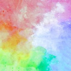 Rainbow Abstract Watercolor Background