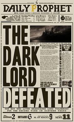 Daily Prophet: The Dark Lord Defeated