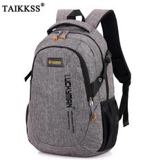 2018 New Fashion Men s Backpack Bag Male Polyester Laptop Backpack Computer  Bags high school student college 2238e785a2