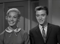 "From the 12 October 1961 episode of My Three Sons titled ""The Crush."" Jena Engstrom as Mary Beth Jackson and Tim Considine as Mike Douglas. Tim Considine, My Three Sons, Annette Funicello, 70s Tv Shows, 12 October, Vintage Tv, Jena, Thing 1 Thing 2, American Actress"