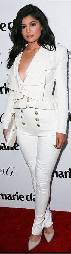 9b1be6810ba Who made Kylie Jenner s white pants