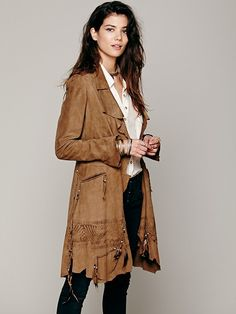 Nigel Preston & Knight Rock Me Suede Coat from Free People Clothing Boutique - Fabulous!!!