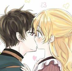 Anime Couples Drawings, Anime Couples Manga, Cute Anime Couples, Manga Anime, Manhwa Manga, Anime Princess, My Princess, Romantic Manga, Anime Family