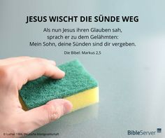 Jesus wischt die Sünde weg | Lies den Bibelvers im Kontext auf #BibleServer nach | Markus 2,5