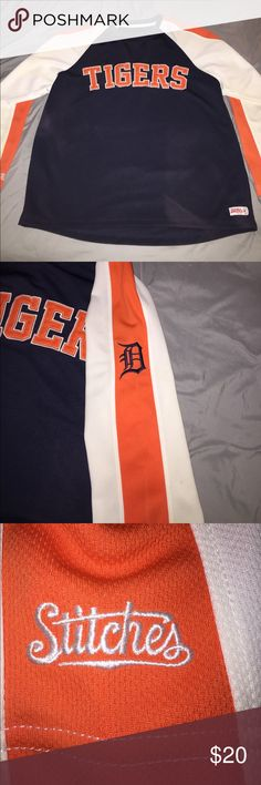 Detroit tigers long sleeve shirt 9/10 Majestic Shirts Tees - Long Sleeve