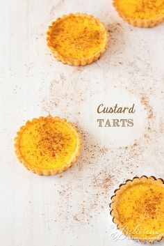 the only thing better than custard is warm custard. Individual Custard Tarts #recipe