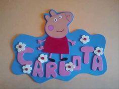 Manualidad con Goma Eva. Letrero de Peppa Pig