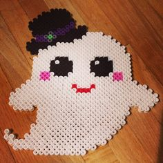 Ghost Halloween hama beads by realbeingmrsc