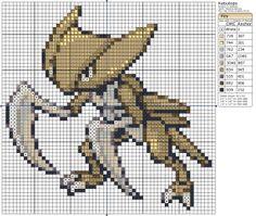 Birdie Stitching Pokemon Pattern - 141 Kabutops