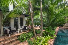 Tropical Pool Landscaping, Tropical Garden Design, Small Front Yard Landscaping, Florida Landscaping, Landscaping Images, Tropical Gardens, Key West, Landscape Architecture, Landscape Design