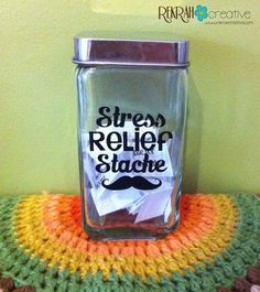Stress Relief Stache Jar tutorial, 27 different stress relief techniques at your fingertips! :)
