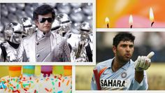 Happy Birthday India's Super Stars Rajnikanth & Yuvraj Singh.  Have a look at our exclusive collection of B'day Cards- indianweddingcard.in/Birthday-Invitations-Sweet-16-15-Quinceanera.html  #Robot #Yuvi #Rajnikanth #Kochadaiyaan