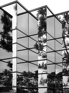 Architecture of confusion. Black and white.