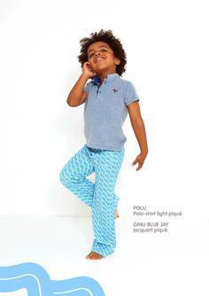 Dis Une Couleur - POLU DEEP BLUE POLO SHIRT Blue Polo Shirts, Elegant Outfit, Deep Blue, Little Ones, Summer Time, Style Inspiration, Fabric, Kids, Organic