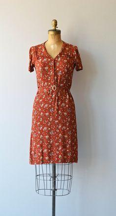 Daylesford dress vintage 1930s dress floral rayon by DearGolden