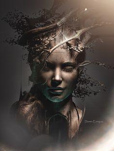 surrealismo, Baum des Lebens - - in 2020 Dark Fantasy Art, Fantasy Artwork, Arte Obscura, Art Sculpture, Masks Art, Surreal Art, Art Reference, Art Drawings, Drawing Faces