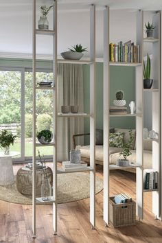 "Removable partition: 25 solutions for separating rooms Garden; a sealed (enclosed) space unit, the Latin ""Hortus conclusus"", is a place … Room, Apartment Design, Beauty Room Vanity, Office Furniture Layout, Apartment Interior, Separating Rooms, Modern Room Divider, Home Decor, Interior Design"