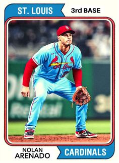 St Louis Baseball, St Louis Cardinals Baseball, Stl Cardinals, Baseball Art, Baseball Players, Football, Sports Stars, Sports Pictures, Custom Cards