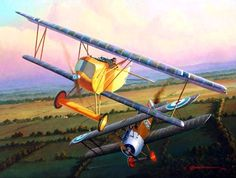 Pinturas aviación Gran Guerra 1914-1918