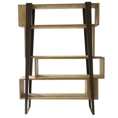 This sophisticated bookcase has a very particular look to it and will give any décor a unique and modern accent. Solid pieces of antique spruce wood were. Bookcase Bar, Rustic Bookcase, Walnut Bookcase, Vintage Bookcase, Modern Bookcase, Bookcases, Cool Furniture, Modern Furniture, Furniture Storage