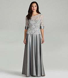 JS Collections Lace Gown #Dillards