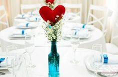 Centro de mesa perfeito!  Caso Real: noivado DIY de origami da Rafa e do Thiago   Casar é um barato