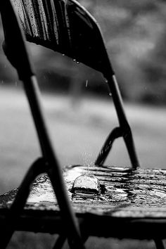 """I woke to the sound of rain."