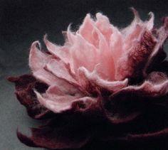 Burgundy and Rose Felt Flower Brooch Handmade to Order by Brigite, Felt Flowers, Diy Flowers, Fabric Flowers, Handmade Headbands, Handmade Soaps, Handmade Rugs, Handmade Crafts, Etsy Fabric, Needle Felting Tutorials