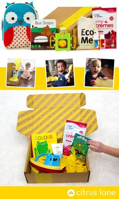 Monthly box of products for your little one l Citrus Lane how cool is this Hereso Vargo Cute Gifts, Baby Gifts, Diy For Kids, Crafts For Kids, Kids Corner, Toddler Activities, Baby Items, Baby Love, Kids Learning