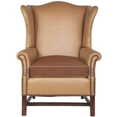 Rare English Woven Horse Hair Wing Chair | From a unique collection of antique and modern wingback chairs at https://www.1stdibs.com/furniture/seating/wingback-chairs/