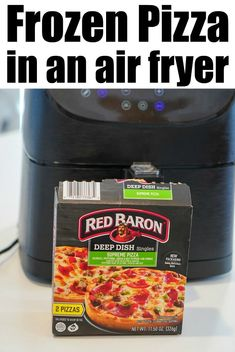 Frozen pizza in air fryer or Ninja Foodi works great! Crispy crust with melted cheese and pepperoni on top, it will become your new favorite method. Air Fryer Recipes Low Carb, Air Fryer Recipes Breakfast, Air Fryer Dinner Recipes, Recipes Dinner, Whole Food Recipes, Whole Foods 365, Frozen Breakfast, Air Fried Food, Personal Pizza