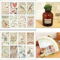 Vintage stickers, look great on valentines, greeting cards, gift tags, scrapbooks and more!