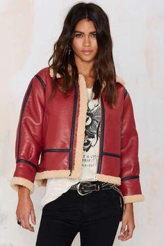 Nasty Gal Shear Force Vegan Leather Jacket