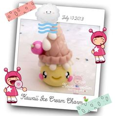 "✫✫..¸.•°*""˜˜""*°• Kawaii Ice Cream Charm ◕‿-"