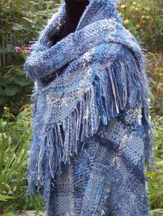 If I ever find the space for a triloom I am going to have so much fun weaving shawls like this.
