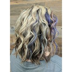 Blonde Hair with Purple Accent by Jess Wood at Beyond the Fringe in Hillsborough NJ
