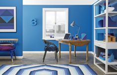 Home Office Design, Palette, Kids Rugs, Blues, Environment, Rooms, Color, Create, Stylish