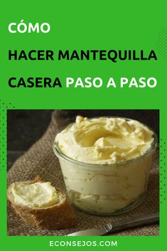 Cómo Hacer Mantequilla - Receta Casera Yogurt Recipes, Milk Recipes, Veggie Recipes, Cooking Recipes, Charcuterie, Butter Cheese, Decadent Cakes, High Tea, Bread Baking