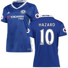 f75d4d6700 Eden Hazard Chelsea adidas Women s 2016 2017 Home Replica Player Jersey -  Blue -  82.49