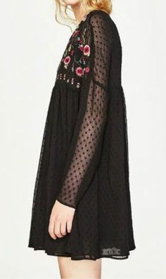 The floral embroidery print and sheer fabric makes you modest! Take it from OASAP with more holiday surprises!