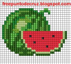 Fruit cross stitch.