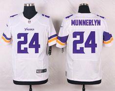 Men's Minnesota Vikings #24 Captain Munnerlyn White Road NFL Nike Elite Jersey