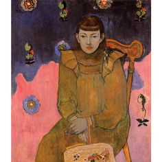 Paul Gauguin  Portrait of a Young Woman, Vaite (Jeanne) Goupil Oil on canvas 1896