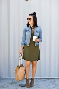 made well novella lace up dress, casual spring affordable outfits - My Style Vita @mystylevita