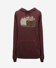 Reading Pusheen Hoodie (unisex) OMG I NEED THIS!!!!
