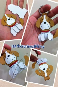 beagle leather keychain by leatherprince, via Flickr