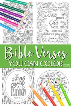 Bible Verses About Strength, Encouraging Bible Verses, Printable Bible Verses, Bible Encouragement, Free Printable, Scripture Art, Bible Art, School Coloring Pages, Adult Coloring Pages