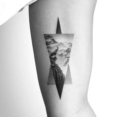 Realistic triangle tattoo for adventurers by -Stunning Capricorn Tattoos That Are Surefire To Impress Capricorn Constellation Tattoo, Capricorn Tattoo, Girl Arm Tattoos, Weird Tattoos, Tatoos, Image Tatoo, Dynamic Tattoo, Little Prince Tattoo, Matching Best Friend Tattoos