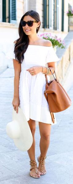 White Off The Shoulder Little Dress #With Love From Kat